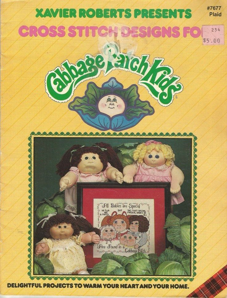 Cross+Stitch+Chart++Cabbage+Patch+Kids+Xavier+Roberts+Plaid+7677