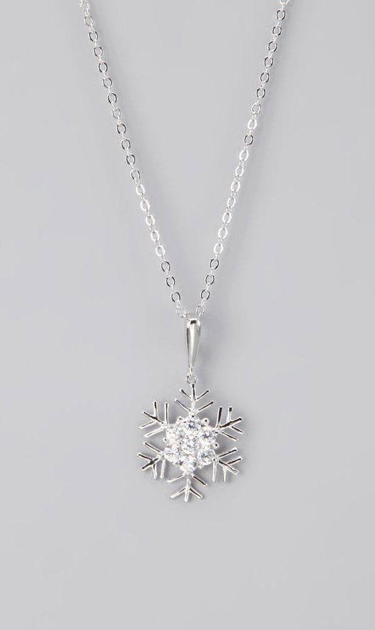 Silver Snowflake Pendant Necklace