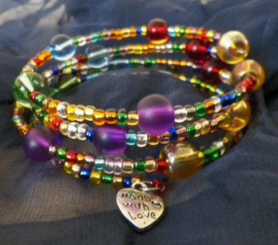 Pretty memory wire bracelet