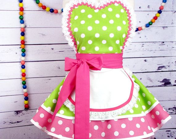 Apron Tutorial and Pattern PDF Dotties Diner Apron by dottiesdiner
