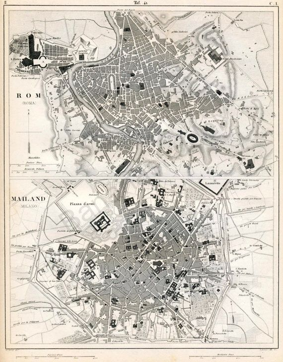 41 best cartography images on pinterest cartography antique maps 1851 german vintage map of rome and milan italy vintage city map old city map publicscrutiny Images