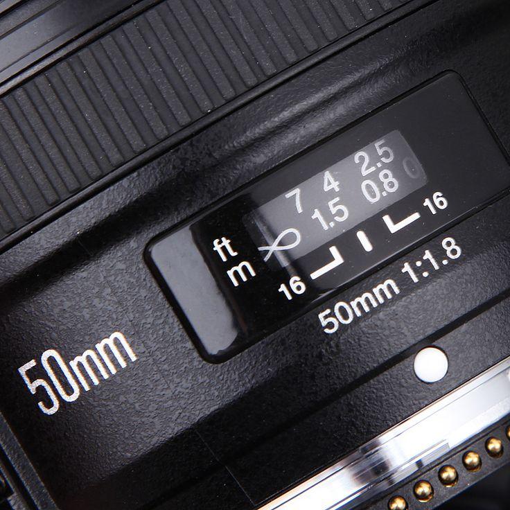 Yongnuo yn 50mm f1.8 lente de la cámara de enfoque automático de focal fija estándar grande apertura para nikon dslr para canon eos 60d 70d 5d2 5d3