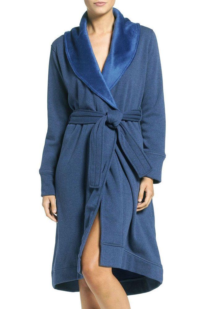UGG Australia Women's Duffield Double Knit Robe XL Blue Jay Heather NWT #UGGAustralia #Robes