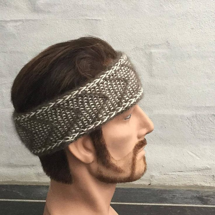 Hand knitted headband knitted with QIVIUT and Suri alpaca by Made4Umnn on Etsy