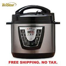 NEW Tristar Digital Power Pressure Cooker XL Electric 6 Qt Stainless Steel