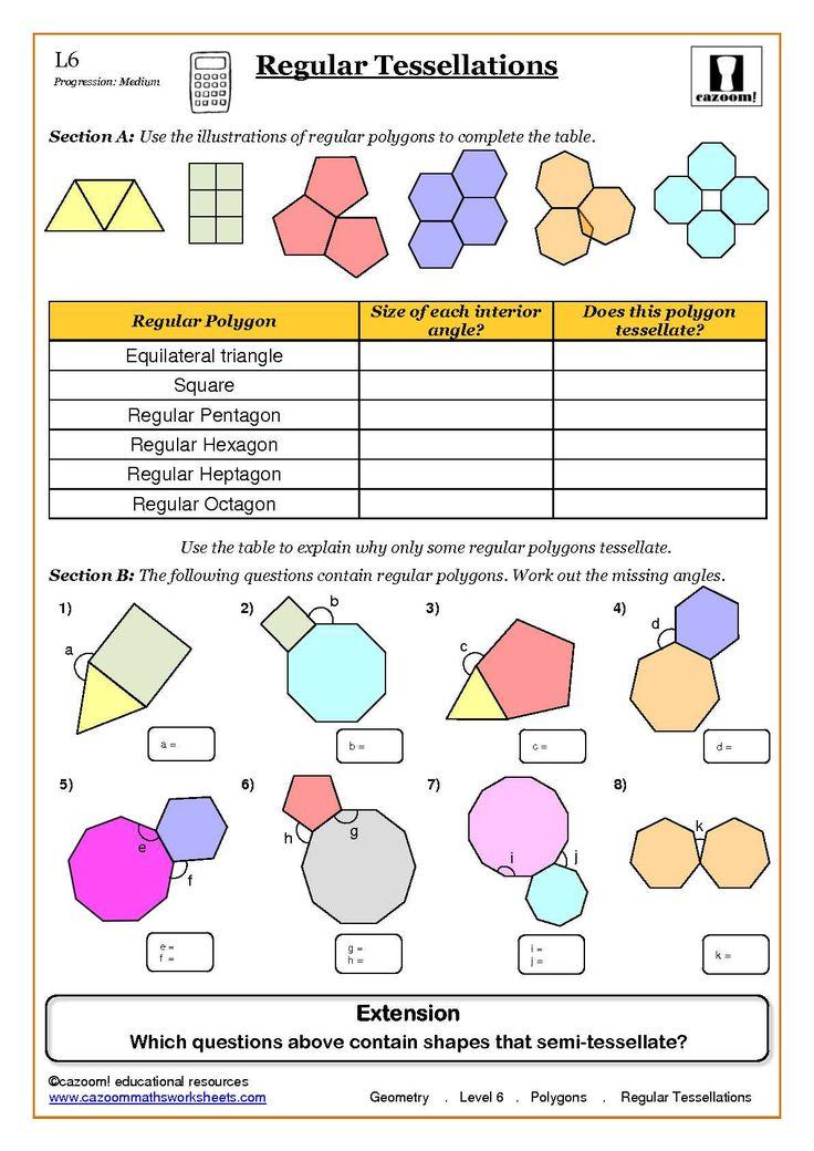 math worksheet : geometry maths worksheet ks3 regular shapes  fun maths  : Maths Worksheets Site