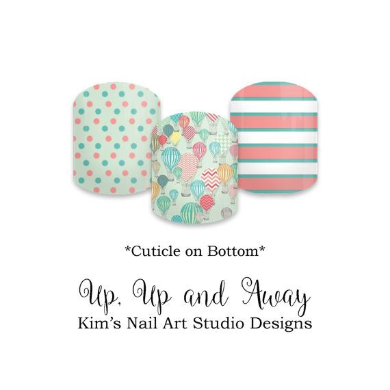 Up, Up and Away (PRE-ORDER): Jamberry Nail Art Studio (NAS) Nail Wraps