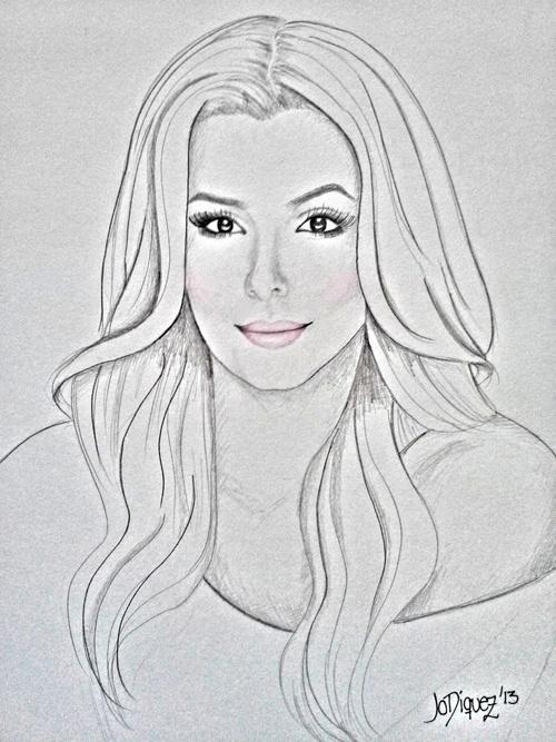 Eva Longoria's portrait by Jo Diquez.