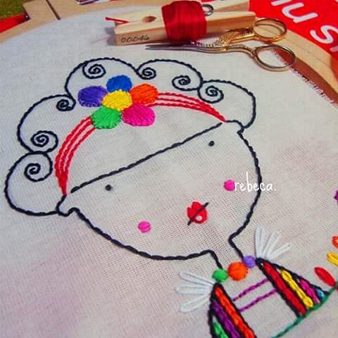 Frida Kahlo en proceso... #Frida #FridaKahlo #art #artist #RebecaMaltos #embroideryhoop #embroidery #embroideryartist #embroiderythread #hoopart