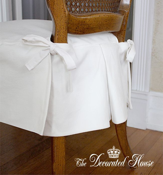Slipcovers, dining chair,  at The Decorated House