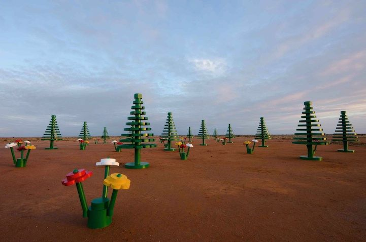 Life-Sized LEGO Forest Sprouts Up in Australian Outback