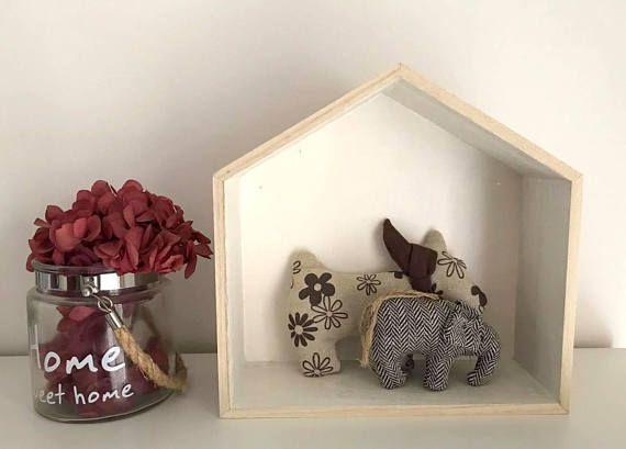 Shelf house / Shelf house white / Wooden house shelf / Home