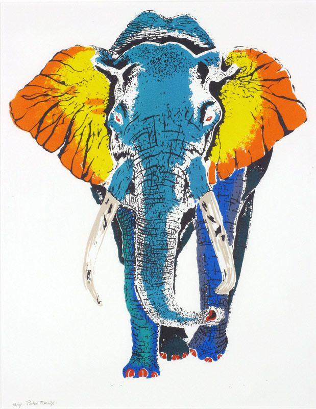 Olifant, Pieter Flach,  zeefdruk