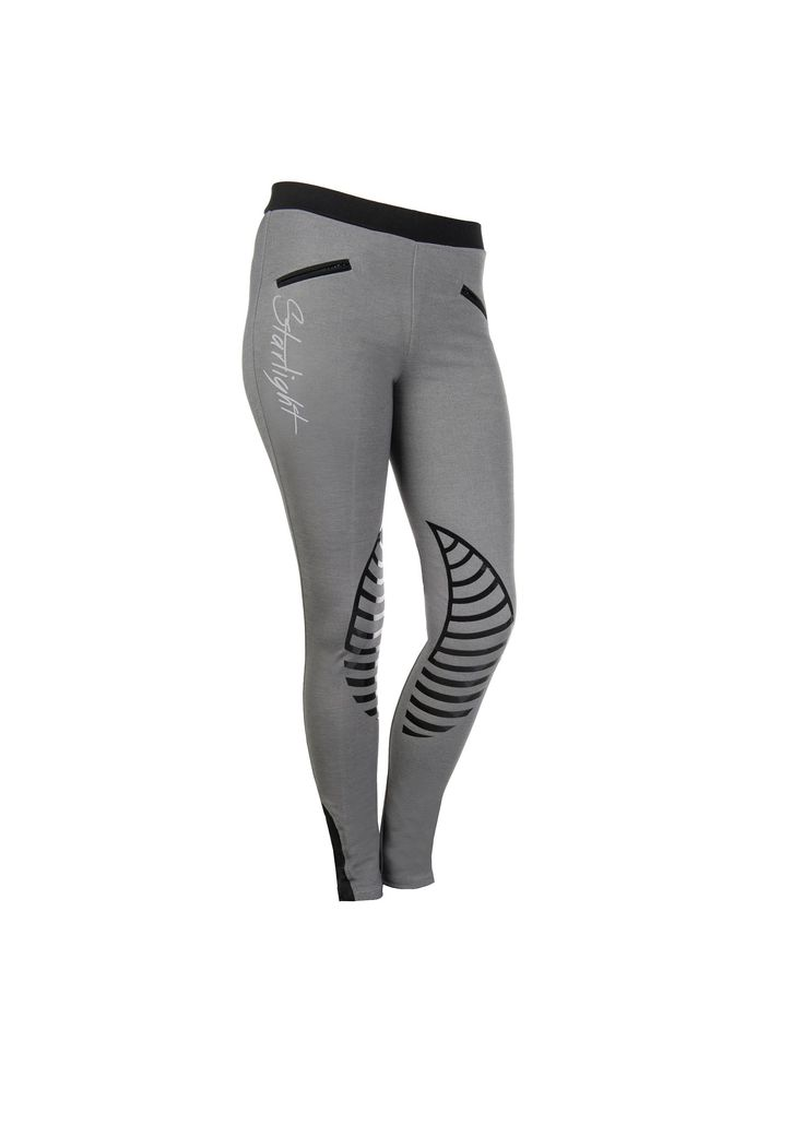 Love these smart grey & black riding leggings by HKM Sports! So comfortable & supportive! Do;t worry you will not see you knicker line! The material is thick! :) #ridingleggings #horseriding