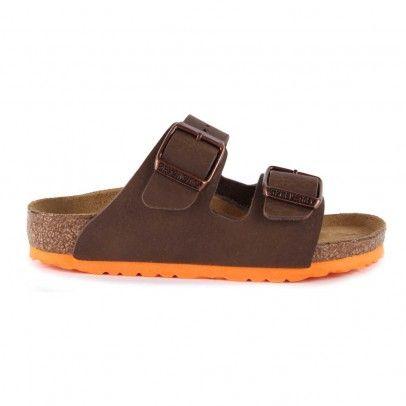 Sandales Suole Colorate Arizona Marrone scuro  Birkenstock