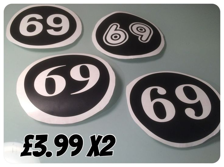 vespa lambretta scooter Decals numbers various colours Sticker Decals 8cms x2  | eBay