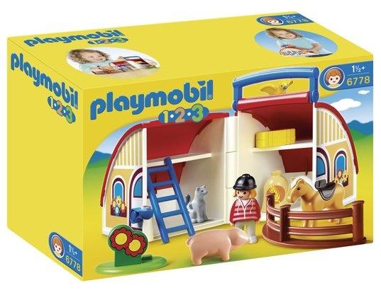 Jeu de construction PLAYMOBIL (2013)  6778 - Ferme transportable
