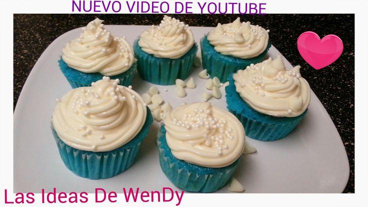 Cupcakes de blue velvet