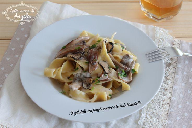 Tagliatelle con funghi porcini e tartufo bianchetto #gialloblog @gialloblogs @soniaperonaci @tere