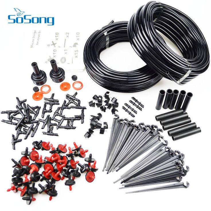 2016 New Hot Sale 46m Micro Drip Irrigation Self Watering Automatic System Kit Set Drippers For Plant Garden Greenhouse