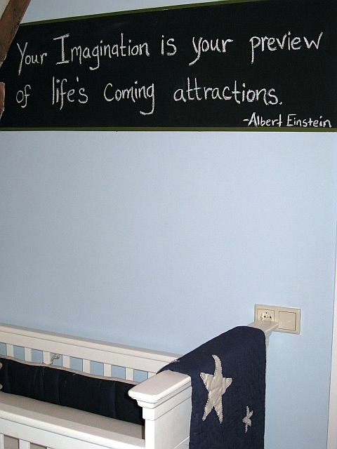 einstein quote boy nursery retro military