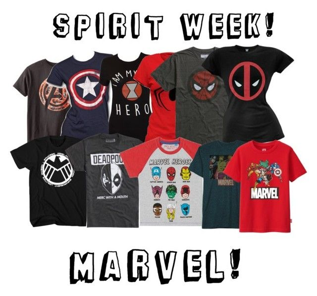 spirit week! marvel! by thelilysweetwolf on Polyvore featuring polyvore, Marvel, JEM, Uniqlo, fashion, style and clothing
