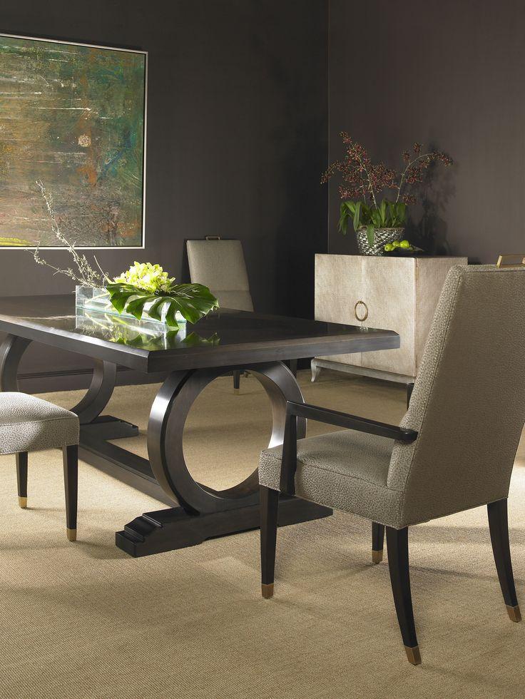 Centre Dining Table in 5055 Laslo Espresso
