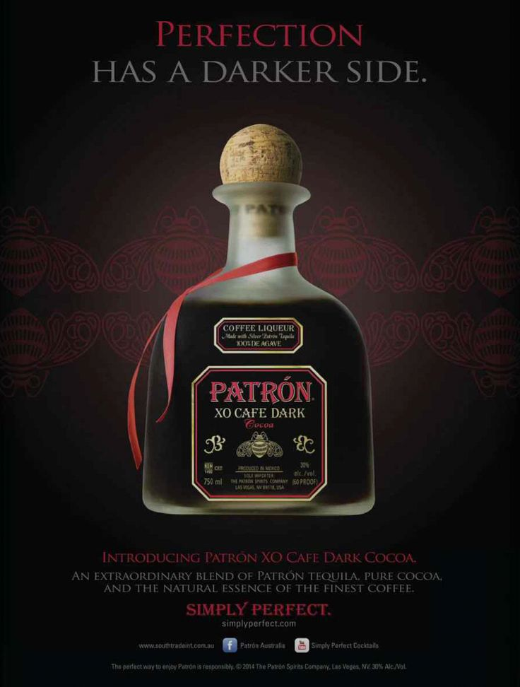 PATRON XO CAFE DARK , TEQUILA , ALCOHOL , ADS , ADVERTISE