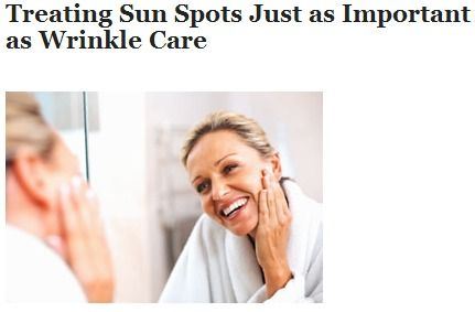 LADIES, SUN SPOTS MAY BETRAY YOUR AGE