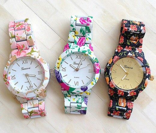 Cute floral-pattern watches are another good gift option for teen girls.