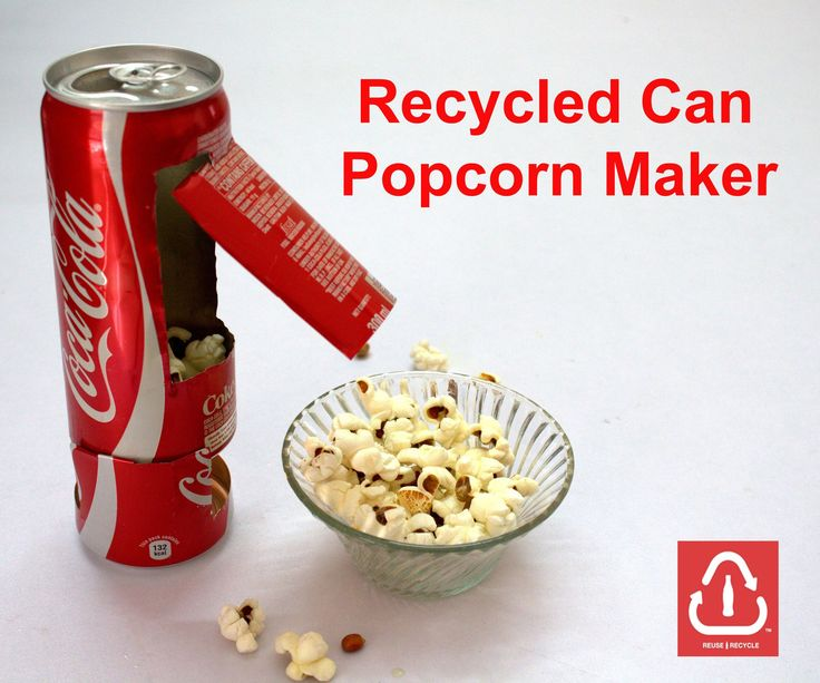 Recycled Coke Can Popcorn Maker - All