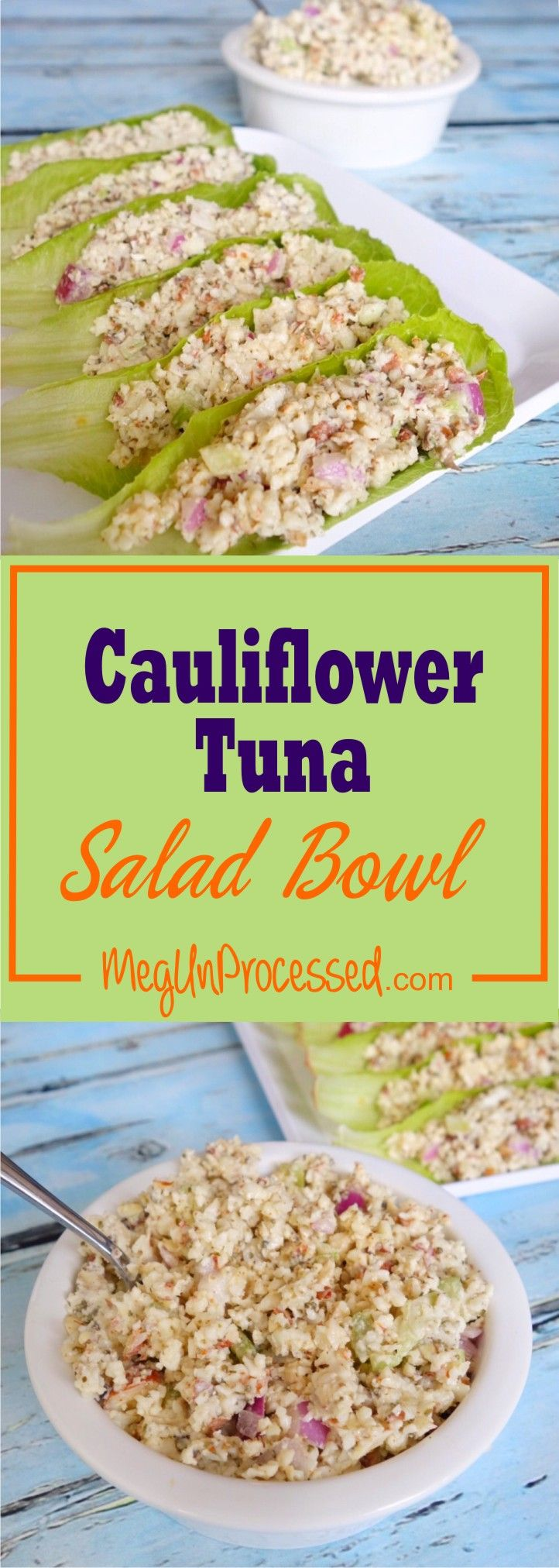 [VEGAN] Mock Tuna Salad: Cauliflowers are packed with essential vitamins and minerals that stop all types of cancer cells from growing and boost your immune system. he almonds present in this recipe will also help improve your cholesterol levels. Cauliflower as a substitute for tuna? I say yes!!
