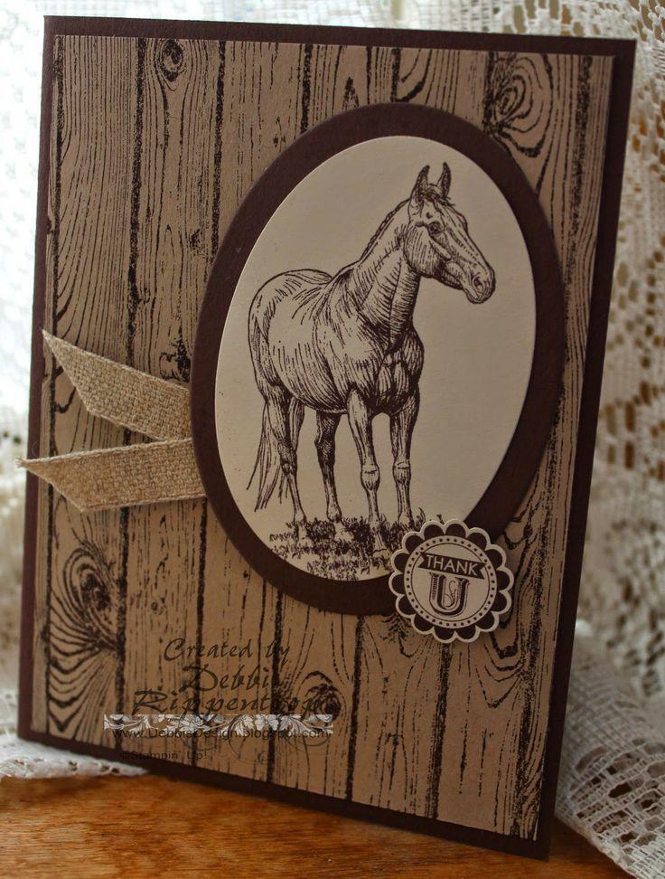 Horse Stamping Card Debbis Design Stamping Hardwood