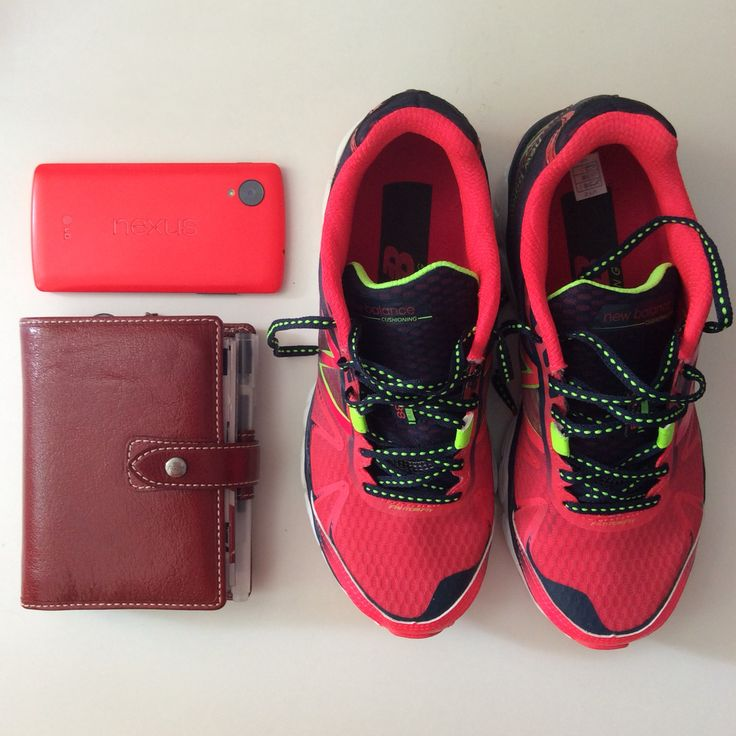 New running shoes matching my filofax and mobile ❤️❤️❤️