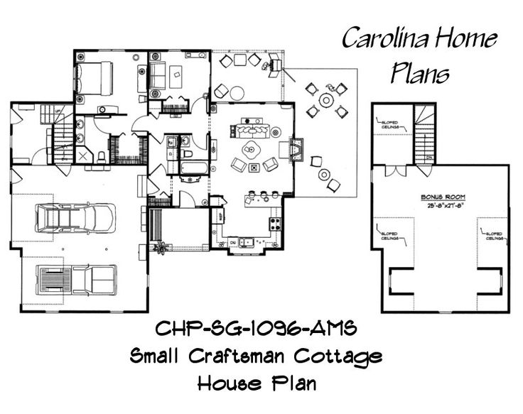 79 best images about house plans for downsizing on pinterest for Small craftsman house plans with garage