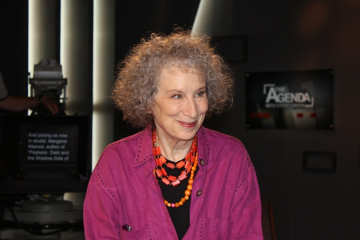 On the set with Canadian poet and novelist Margaret Atwood.