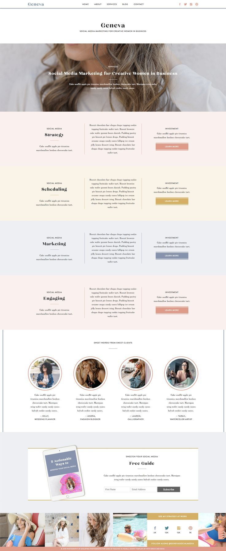 With Grace And Gold Branding Web Design And Education For Creative Women In Business Brand Brands Logo Web Design Modern Website Design Webpage Design