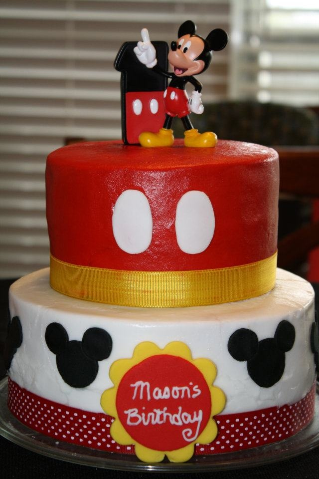 Best My Cakes Images On Pinterest Buttercream Icing Cake - Mickey birthday cake ideas