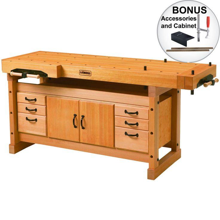 Elite Work Bench 2000 w/ SM04 Cabinet + Accs Sjobergs Workbenches SJO-99402K New #Sjobergs