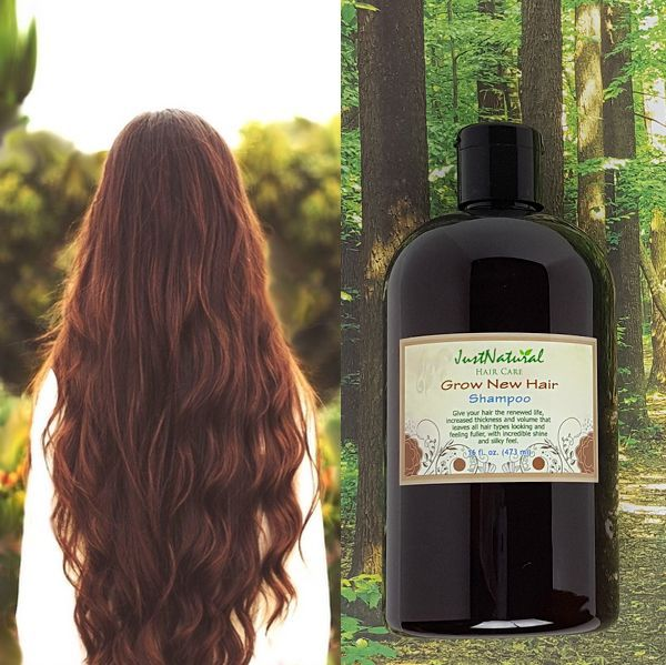 This Grow New Hair Shampoo is loaded with nutrients and vitamins from plant extracts, oils and essentials that have been used since ancient times until today. Give your hair the renewed life, increased thickness and volume that leaves all hair types looking and feeling fuller, with incredible shine and silky feel.