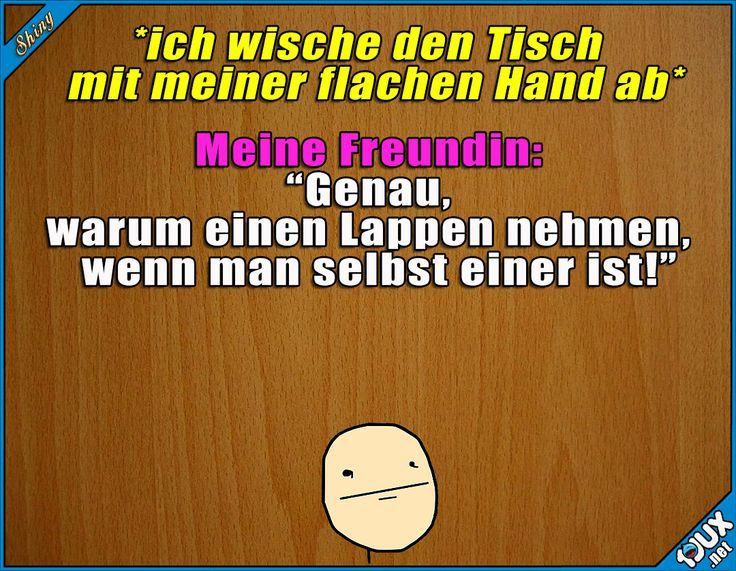 Echt praktisch? x.x #Lappen #gemein #fies #Humor #Sprüche #lustigeSprüche #Gut
