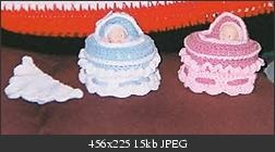 Cupcake Baby Cradle Purse. When closed it looks like a cupcake - free pattern