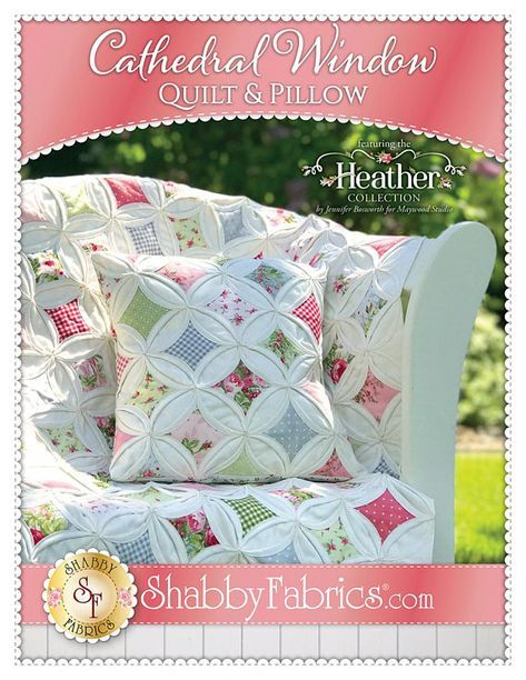 Cathedral Window Quilt and Pillow Pattern by Jennifer