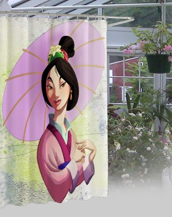"New Disney Mulan Princes Design Waterproof High Quality Shower Curtain 60"" x 72"" #Unbranded #Modern"