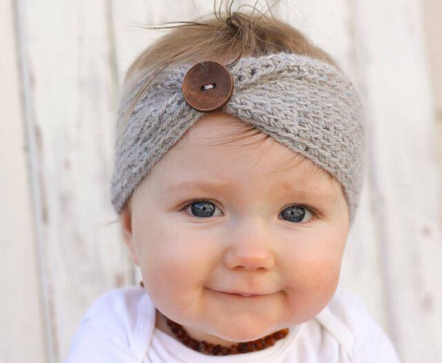 Baby Girl Knit Crochet Turban Headband Warm Headbands hair accessories for newborns hair head bands band hairband 1PC