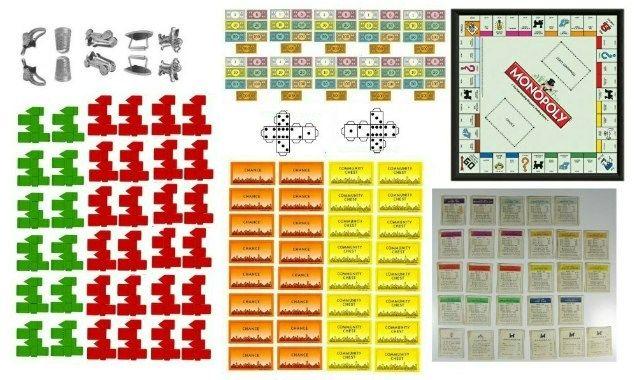 Miniature Printables - Monopoly Game.