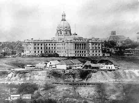 [Fort Edmonton and Legislature]