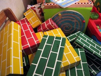 Cardboard Blocks.  I remember these from my very first day of school!!