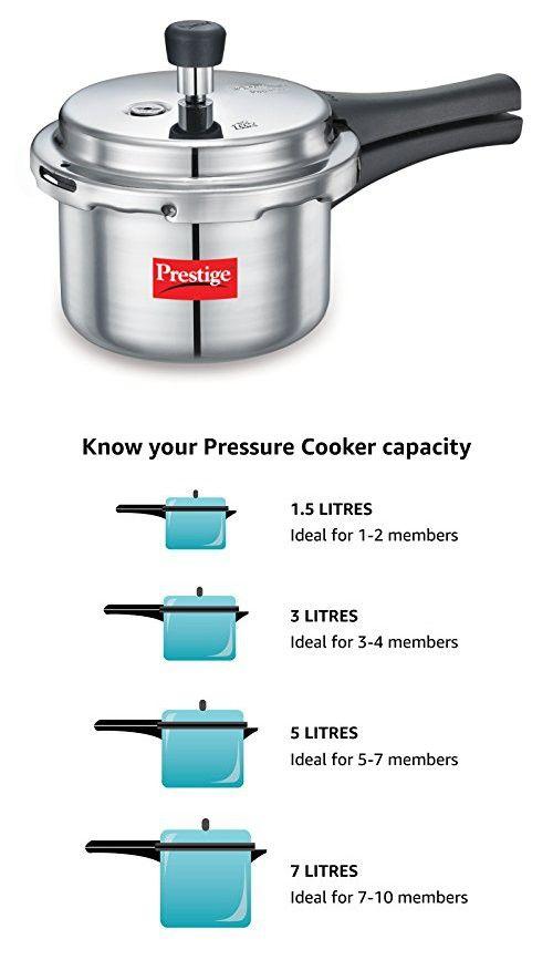 6b6292e38ba Prestige Popular Hard Anodized Aluminium Pressure Cooker