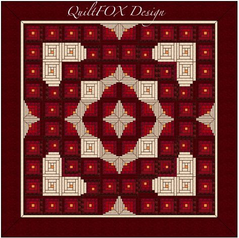 Looking for your next project? You're going to love Wedding / Log Cabin Heart /Love Quilt by designer Judit Hajdu. - via @Craftsy